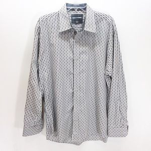 Johnston & Murphy Tailored Fit Button Down Shirt